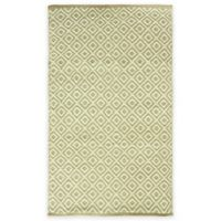Bacova Tiger Eye Diamond 2-Foot 4-Inch x 3-Foot 10-Inch Indoor/Outdoor Accent Rug in Natural