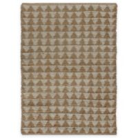 Natural Chenille Triangle 2-Foot x 4-Foot 6-Inch Accent Rug in Beige