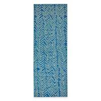 Feizy Caslon Arrows 2-Foot 10-Inch x 7-Foot 10-Inch Runner in Blue