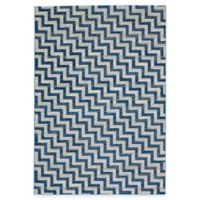 Feizy Caslon Stairs 2-Foot 2-Inch x 4-Foot Accent Rug in Blue