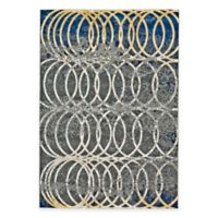 Feizy Caslon Settat Circle Lock 2-Foot 2-Inch x 4-Foot Accent Rug in Grey