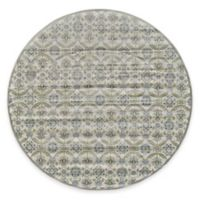 Feizy Landri Floral Medallion 8-Foot Round Area Rug in Taupe