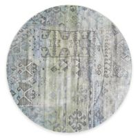 Feizy Landri Distressed Boxes 8-Foot Round Multicolor Area Rug