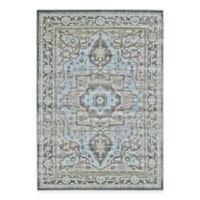 Feizy Landri Center Medallion 2-Foot 10-Inch x 7-Foot 10-Inch Runner in Taupe/Blue