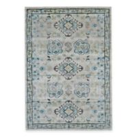 Feizy Landri Border 5-Foot x 8-Foot Rug in Taupe/Blue