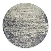Feizy Landri Cracks 8-Foot Round Area Rug in Taupe/Grey