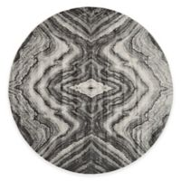 Feizy Landri Mirror 8-Foot Round Area Rug in Taupe/Grey