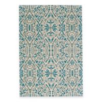 Feizy Keaton Ikat Diamond 2-Foot 2-Inch x 4-Foot Accent Rug in Turquoise