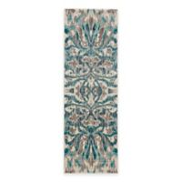 Feizy Keaton Ikat 2-Foot 7-Inch x 8-Foot Runner in Turquoise
