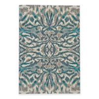 Feizy Keaton Ikat 5-Foot 3-Inch x 7-Foot 6-Inch Area Rug in Turquoise