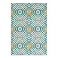 Feizy Keaton Circles 2-Foot 2-Inch x 4-Foot Accent Rug in Teal