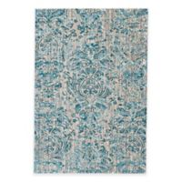 Feizy Keaton Damask 2-Foot x 4-Foot Accent Rug in Aqua