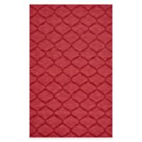 Feizy Crescent Trellis 5-Foot x 8-Foot Area Rug in Red