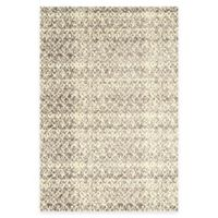 Feizy Settat Distressed 2-Foot 2-Inch x 4-Fot Accent Rug in Grey/Cream