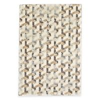 Feizy Settat Geometric 5-Foot x 8-Foot Area Rug in Silver/Cream