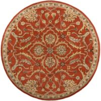 Artistic Weavers Middleton Ava 3-Foot 6-Inch Round Area Rug in Rust