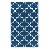 Feizy York Reagan 2-Foot x 3-Foot Accent Rug in Blue/White