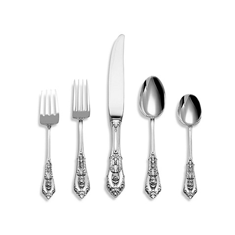 Wallace 174 Rose Point Sterling Silver Flatware Bed Bath
