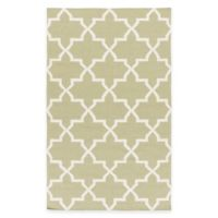 Feizy York Reagan 3-Foot x 5-Foot Accent Rug in Sage/White