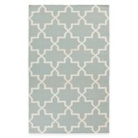 Feizy York Reagan 5-Foot x 8-Foot Area Rug in Light Blue/White