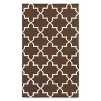 Feizy York Reagan 5-Foot x 8-Foot Area Rug in Brown/White