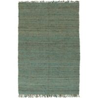 Feizy Tropica Harper 4-Foot x 6-Foot Area Rug in Teal