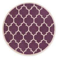 Artistic Weavers Transit Piper 3-Foot 6-Inch Round Area Rug in Purple