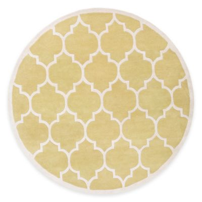 Artistic Weavers Transit Piper 3 Foot 6 Inch Round Area Rug In Yellow