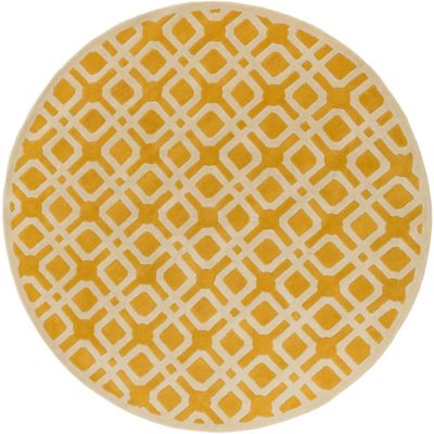 Artistic Weavers Transit Madison 3 Foot 6 Inch Round Area Rug In Yellow