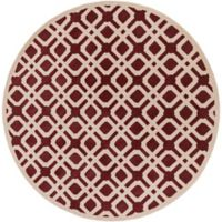 Artistic Weavers Transit Madison 3-Foot 6-Inch Round Area Rug in Red