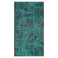 Safavieh Palazzo Global Boxes 2-Foot x 3-Foot Rug in Black/Turquoise