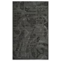 Safavieh Palazzo Global Boxes 4-Foot x 6-Foot Area Rug in Black/Grey