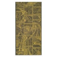 Safavieh Palazzo Global Boxes 4-Foot x 6-Foot Area Rug in Black/Green