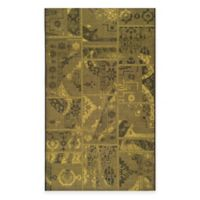 Safavieh Palazzo Global Boxes 5-Foot x 8-Foot Area Rug in Black/Green