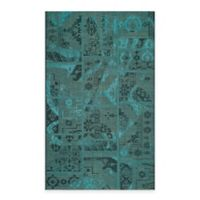 Safavieh Palazzo Global Boxes 5-Foot x 8-Foot Area Rug in Black/Turquoise