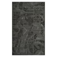 Safavieh Palazzo Global Boxes 5-Foox 8-Foot Area Rug in Black/Grey