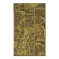 Safavieh Palazzo Global Boxes 8-Foot x 11-Foot Area Rug in Black/Green