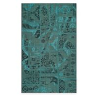 Safavieh Palazzo Global Boxes 8-Foot x 11-Foot Area Rug in Black/Turquoise