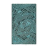Safavieh Palazzo Southwest 4-Foot x 6-Foot Area Rug in Black/Turquoise
