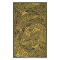 Safavieh Palazzo Southwest 5-Foot x 8-Foot Area Rug in Black/Green