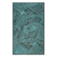 Safavieh Palazzo Southwest 5-Foot x 8-Foot Area Rug in Black/Turquoise