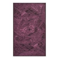 Safavieh Palazzo Southwest 8-Foot x 11-Foot Area Rug in Black/Purple