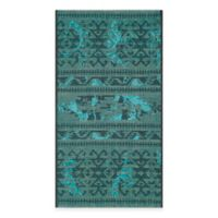 Safavieh Palazzo Halen 2-Foot x 3-Foot 6-Inch Accent Rug in Black/Turquoise