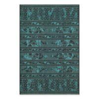 Safavieh Palazzo Halen 4-Foot x 6-Foot Area Rug in Black/Turquoise
