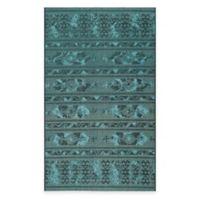 Safavieh Palazzo Halen 5-Foot x 8-Foot Areas Rug in Black/Turquoise