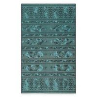 Safavieh Palazzo Halen 8-Foot x 11-Foot Area Rug in Black/Turquoise