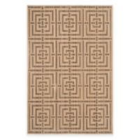Safavieh Infinity Collection Maze 4-Foot x 6-Foot Area Rug in Yellow/Taupe