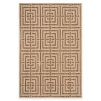 Safavieh Infinity Collection Maze 9-Foot x 12-Foot Area Rug in Yellow/Taupe