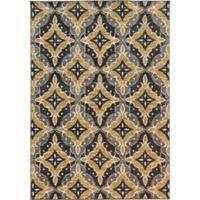 Oriental Weavers Harper Diamond 3-Foot 3-Inch x 5-Foot 5-Inch Area Rug in Charcoal