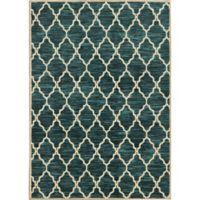 Oriental Weavers Harper Trellis 3-Foot 5-Inch x 5-Foot 5-Inch Area Rug in Teal